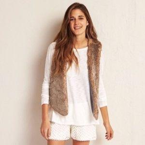 AEO aerie faux fur vest OS